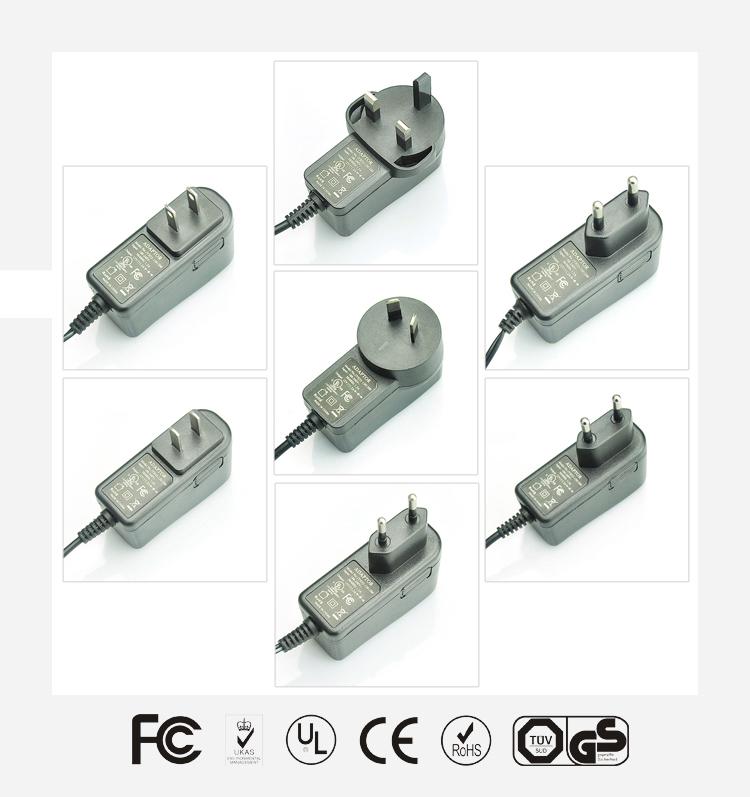 5V2.1A立式优质电源适配器
