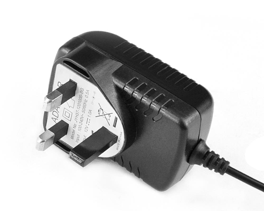 5V2.5A卧式英规优质电源适配器