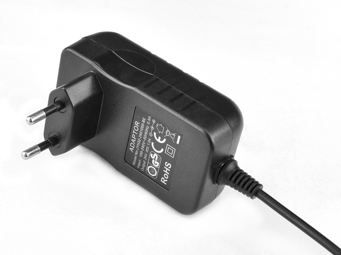 48V0.5A欧规卧式优质电源适配器