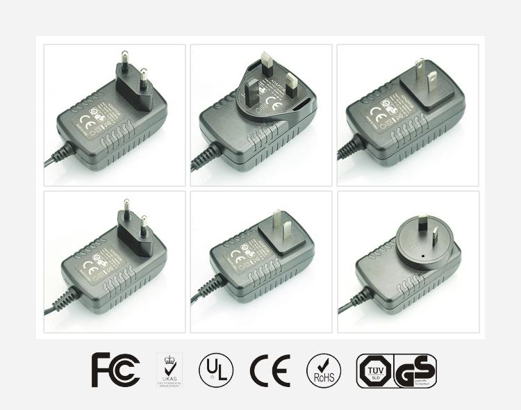 12V1A卧式优质电源适配器