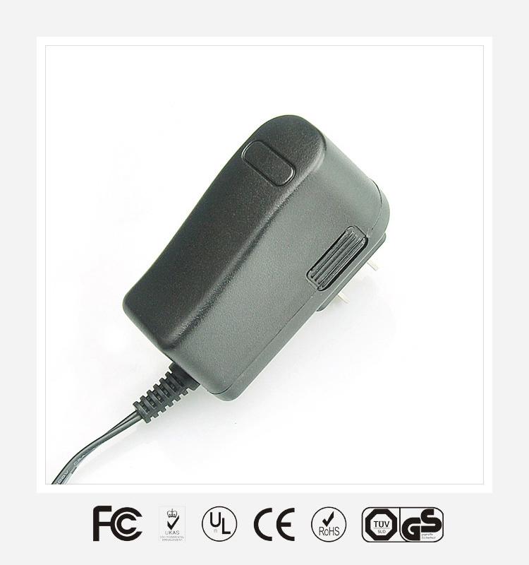 6V0.5A日规立式优质电源适配器