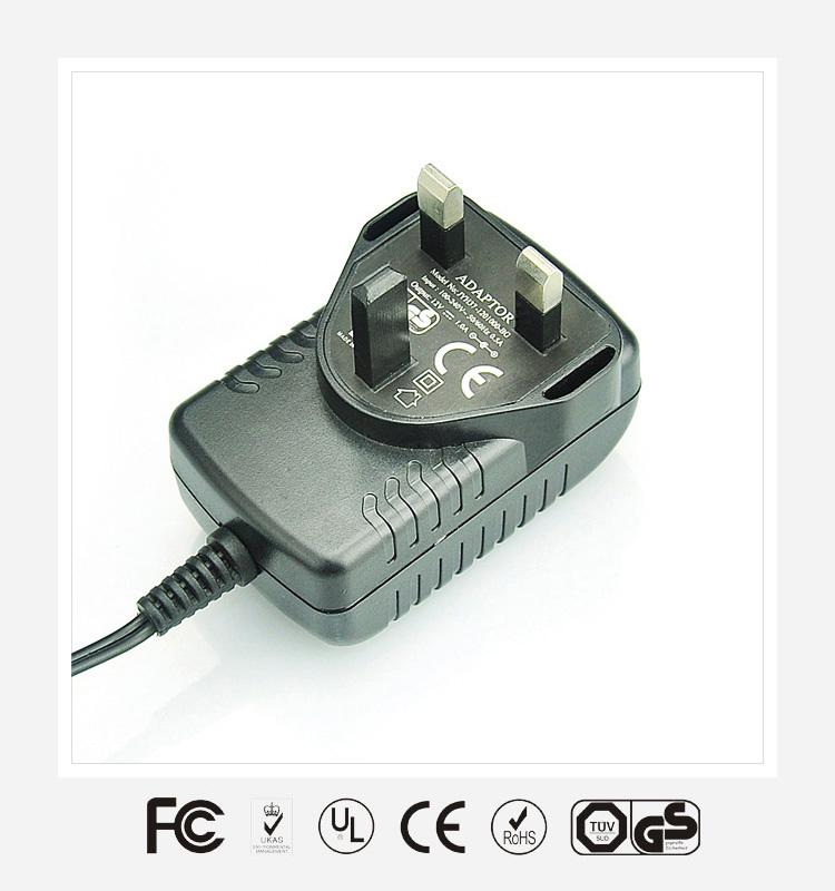 6V2.5A英规卧式优质电源适配器