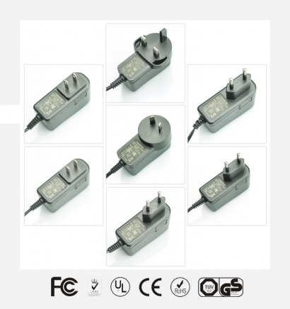5V2.5A立式优质电源适配器