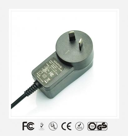 12V1A澳规立式优质电源适配器