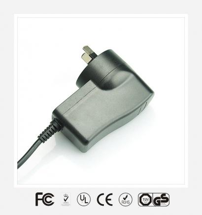 5V3A英规立式优质电源适配器