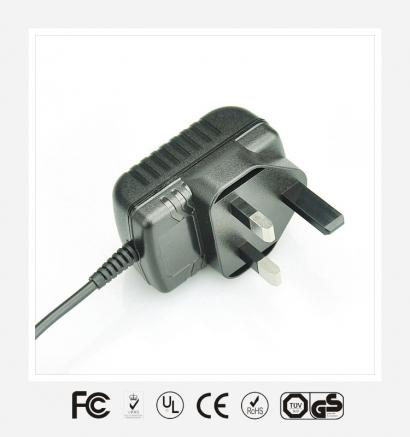 6V0.5A英规卧式优质电源适配器
