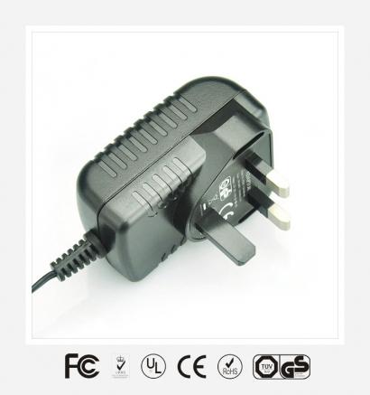 9V1A英规卧式优质电源适配器