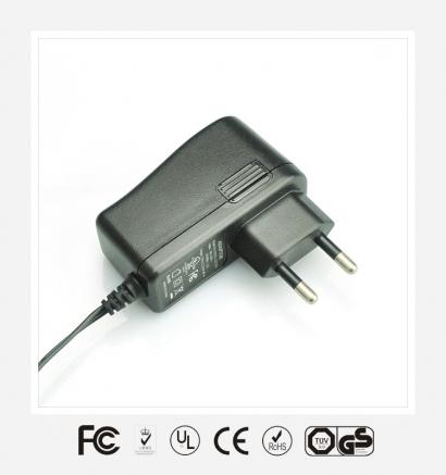 9V1A欧规立式优质电源适配器