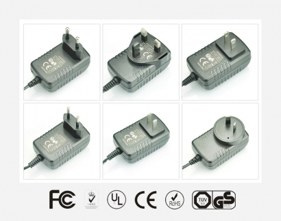 室内空气净化器专用卧式优质电源适配器