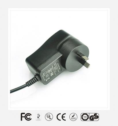15V1A澳规立式优质电源适配器